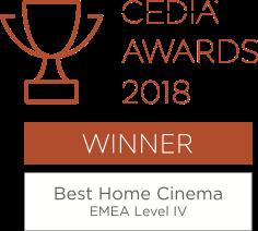 CEDIA Awards Winner - Best Home Cinema